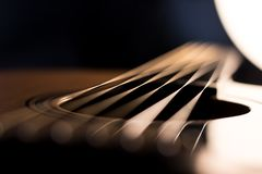 Acoustic guitar resonator abstract royalty free stock photos