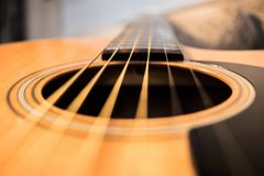 Acoustic guitar resonator hole abstract royalty free stock photography