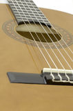 Acoustic guitar bridge Stock Photos