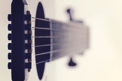 Acoustic guitar bridge pins close up Royalty Free Stock Image
