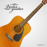 Acoustic guitar bright background. Stock Images