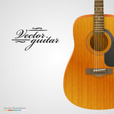 Acoustic guitar bright background. Royalty Free Stock Image