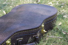 Acoustic guitar case. Royalty Free Stock Photography