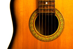 Acoustic guitar central part Royalty Free Stock Photography