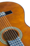 Acoustic guitar close up Royalty Free Stock Image