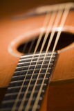 Acoustic guitar close-up Royalty Free Stock Image