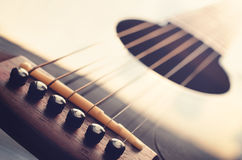 Acoustic guitar close up Stock Image