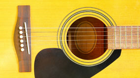 Acoustic guitar. Close up for music and sound background Royalty Free Stock Images