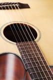 Acoustic guitar. Close up part acoustic guitar Stock Photo