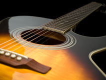 Acoustic guitar closeup Royalty Free Stock Photography
