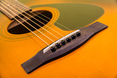 Acoustic guitar closeup Royalty Free Stock Photos