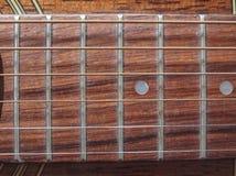 Acoustic guitar closeup Royalty Free Stock Image