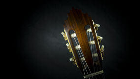 Acoustic guitar. A closeup of the headstock of an acoustic guitar Stock Photo