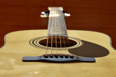 Acoustic guitar closeup Stock Image