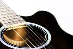 Acoustic guitar closeup Stock Image