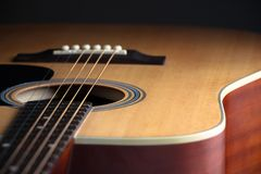 Acoustic guitar Royalty Free Stock Photos