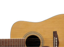 Acoustic Guitar Crop with Adspace Stock Photography