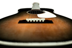 Acoustic guitar. 3d illustration of an acoustic guitar isolated on white background Stock Images