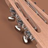 Acoustic guitar. 3d rendering of acoustic guitar Stock Image