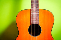 Acoustic guitar detail Stock Photography