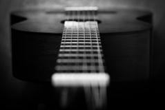 Acoustic guitar detail Stock Photos