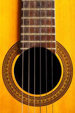 Acoustic guitar detail Royalty Free Stock Photography