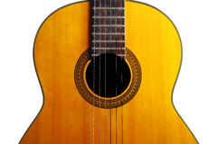 Acoustic guitar detail Royalty Free Stock Photos