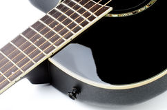 Acoustic Guitar Fingerboard Stock Photo