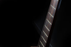 Acoustic Guitar Fingerboard Royalty Free Stock Photo