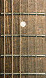 Acoustic guitar fretboard Stock Photography