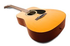 Acoustic Guitar. Guitar acoustic guitar isolated musical instrument music classic equipment royalty free stock photos