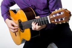 Acoustic guitar guitarist man classical. Royalty Free Stock Photos