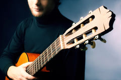 Acoustic guitar guitarist playing Stock Images
