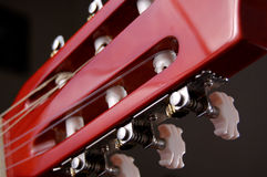Acoustic guitar head Stock Photo