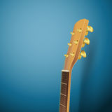 Acoustic guitar head Royalty Free Stock Images