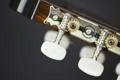 Acoustic guitar head macro shoot. Image Stock Photography