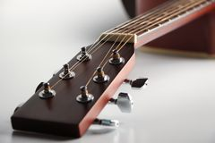 Acoustic guitar headstock Stock Photos