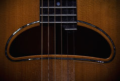 Acoustic Guitar Hole Royalty Free Stock Images