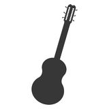 Acoustic guitar icon Royalty Free Stock Photography