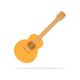 Acoustic guitar icon flat style. In jpeg and eps 10 vector file format Royalty Free Stock Photography