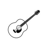 acoustic guitar -   icon Stock Image