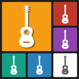 Acoustic guitar icon Royalty Free Stock Image
