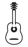 Acoustic guitar icon Stock Photography