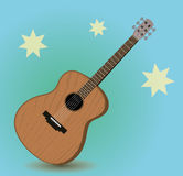 Acoustic guitar. An illustration of a wooden acoustic guitar Royalty Free Stock Photography