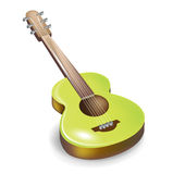 Acoustic guitar isolated Royalty Free Stock Photo