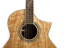 Acoustic guitar isolated. Nice texture Stock Photos