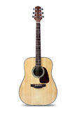 Acoustic guitar. Isolated over white royalty free stock photos