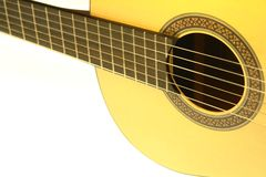 Acoustic Guitar Isolated White Stock Images