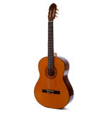 Acoustic guitar. Isolated on white Royalty Free Stock Photos