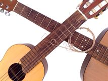 Acoustic guitar lessons Royalty Free Stock Photo